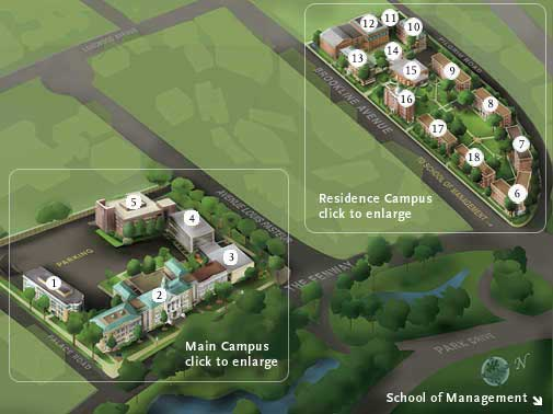 Campus Map Key Main Campus 1 One Palace Road 2 Main College